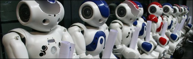 Nao robots waiting for an upgrade